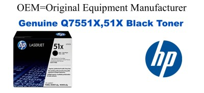 New Original HP 51X Black Toner Cartridge (Q7551X)