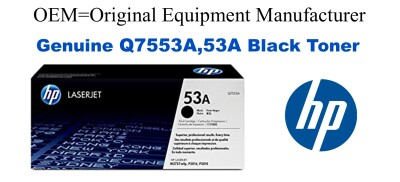 New Original HP 53A Black Toner Cartridge (Q7553A)