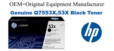 New Original HP 53X Black Toner Cartridge (Q7553X)