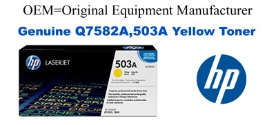 New Original HP 503A Yellow Toner Cartridge (Q7582A)