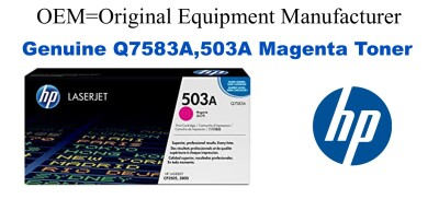 New Original HP 503A Magenta Toner Cartridge (Q7583A)
