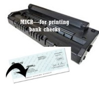 Remanufactured Black MICR Toner for use in SCX4720F MICR Samsung Model