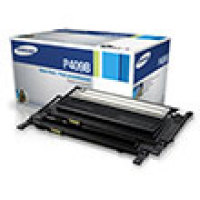 Genuine Samsung CLT-P409B Black Dual Pack Toner Cartridge