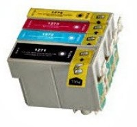 Epson T125 - 4 Color Ink Cartridge Set, Remanufactured BCMY Combo