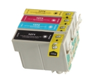 Epson T127 - 4 Color Ink Cartridge Set, Remanufactured BCMY Combo