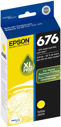 Genuine EPSON T676XL Yellow Ink Cartridge (T676XL420)