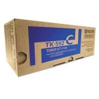 Genuine Kyocera TK-592C Cyan Toner Cartridge