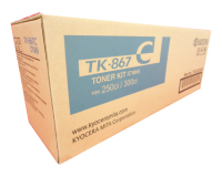 Genuine Kyocera TK-867C Cyan Toner Cartridge