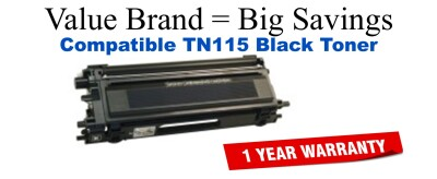 Brother TN115 Black Remanufactured Toner Cartridge