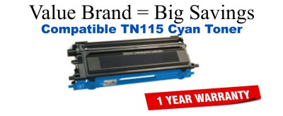 TN115C Cyan Compatible Value Brand toner