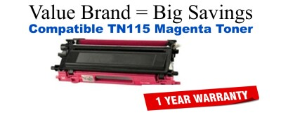 Brother TN115 Magenta Remanufactured Toner Cartridge