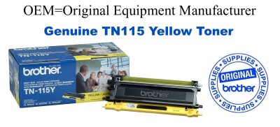 TN115Y Yellow Genuine Brother toner