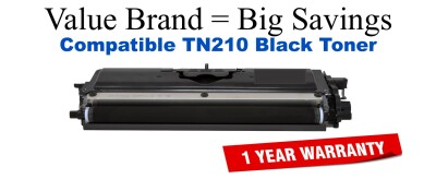TN210BK Black Compatible Value Brand toner