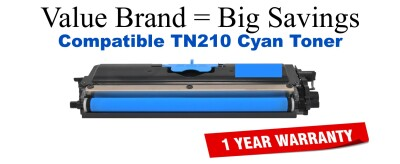 TN210C Cyan Compatible Value Brand toner