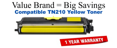 TN210Y Yellow Compatible Value Brand toner