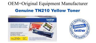 TN210Y Yellow Genuine Brother toner