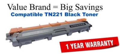 TN221BK Black Compatible Value Brand toner