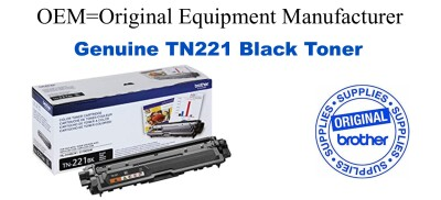 TN221BK Black Genuine Brother toner