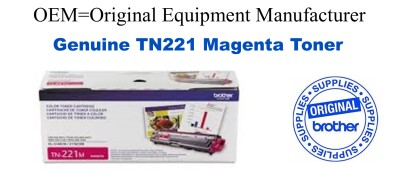 New Original Konica Minolta TN221M Magenta Toner Cartridge
