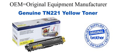 TN221Y Yellow Genuine Brother toner