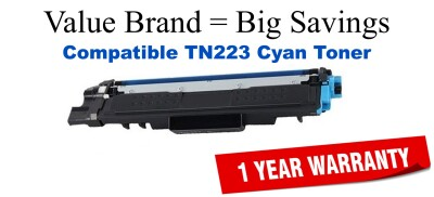 Brother TN223C Cyan Remanufactured Toner