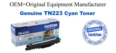 Genuine Brother TN223C Cyan Toner