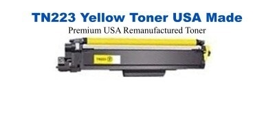 TN223Y Yellow Premium USA Made Remanufactured Brother toner