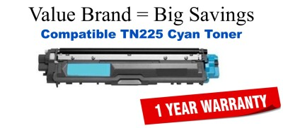 TN225C Cyan Compatible Value Brand toner