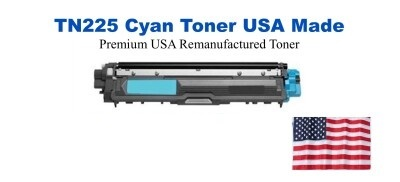 TN225C Cyan Premium USA Made Remanufactured Brother toner