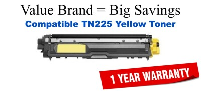 TN225Y Yellow Compatible Value Brand toner