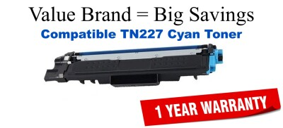 Brother TN227C Cyan Remanufactured Toner