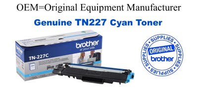 Genuine Brother TN227C Cyan High Yield Toner