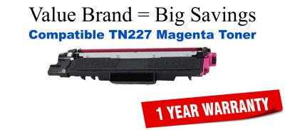 Brother TN227M Magenta Remanufactured Toner