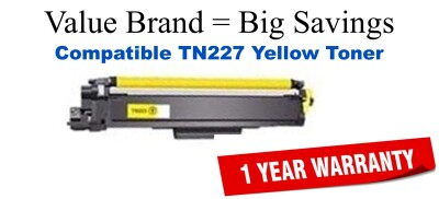 Brother TN227Y Yellow Remanufactured Toner