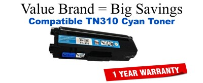 TN310C Cyan Compatible Value Brand toner