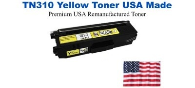 TN310Y Yellow Premium USA Made Remanufactured Brother toner