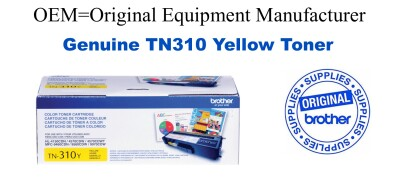 TN310Y Yellow Genuine Brother toner