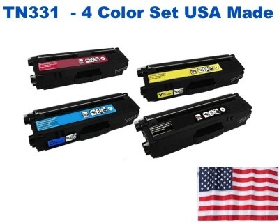 TN331 Color Set USA Made Remanufactured Brother toner TN331BK,TN331C,TN331M,TN331Y