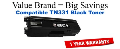 TN331BK Black Compatible Value Brand toner