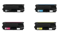 Brother TN336 High Yield Remanufactured Toner Set (Black, Cyan, Magenta, Yellow)