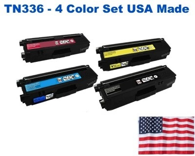 TN336 High Yield Color Set USA Made Remanufactured Brother toner TN336BK,TN336C,TN336M,TN336Y