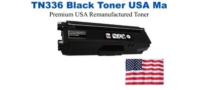 TN336BK Black Premium USA Made Remanufactured Brother toner