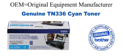 TN336C Cyan Genuine Brother toner