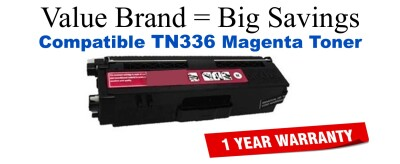 Brother TN336 High Yield Magenta Remanufactured Toner Cartridge