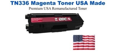 TN336M Magenta Premium USA Made Remanufactured Brother toner