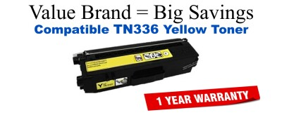 Brother TN336 High Yield Yellow Remanufactured Toner Cartridge