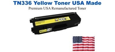 TN336Y Yellow Premium USA Made Remanufactured Brother toner