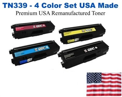 TN339 Super High Yield Color Set USA Made Remanufactured Brother toner TN339BK,TN339C,TN339M,TN339Y