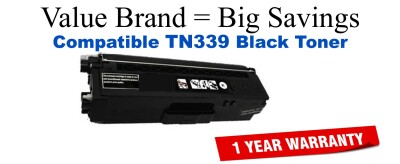 Brother TN339BK High Yield Black Remanufactured Toner Cartridge