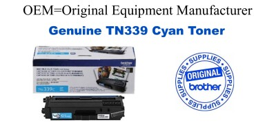 Genuine Brother TN339C Cyan Toner Cartridge